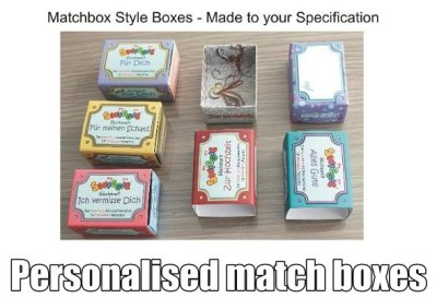 Personalised match boxes